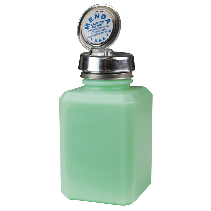Retro Mint Glass Bottle with Pure-Touch Pump, 6 oz - Part No. MDA-5024
