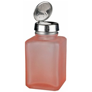 Pink Frosted Bottle with One-Touch Pump, 6 oz - Part No. 35381